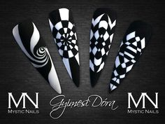Vasarely style nails by Dora Gyimesi
