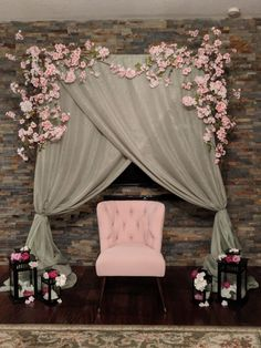 Cherry blossom backdrop for bridal shower by Sharon Ramkarran Wedding Archway .,Cherry blossom backdrop for bridal shower by Sharon Ramkarran Wedding Archway Arch Backdrop Frame What period must curtains be? Backdrop Decorations, Indian Wedding Decorations, Engagement Decorations, Bridal Shower Backdrop, Wedding Reception Backdrop, Backdrop Frame, Backdrops, Cherry Blossom Party, Mehndi Decor
