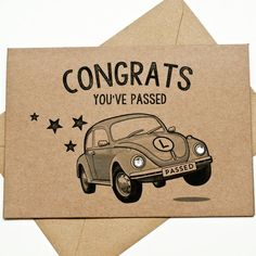 Congrats Driving Test Card With Diamantes