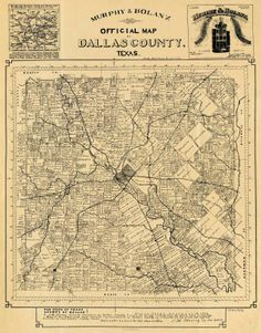 1940 road map of Dallas County Texas Elaine Copeland Elaine