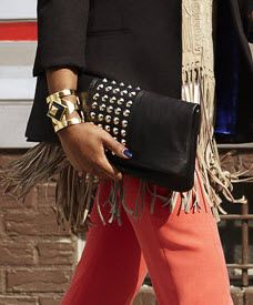 www.tjmaxx.com/    Studs, fringe, cobalt, gold & colored denim... Luxe with an edge! #MaxxStyleHunt