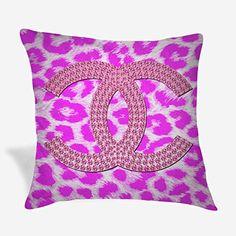Throw Pillow Covers, Throw Pillows, Chanel Pink, Pink Leopard, Logo, Amazon, Toss Pillows, Logos, Amazons