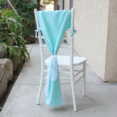 Aqua Spa Chiavari Chair Hood, Chair Cover for Tiffany Chairs