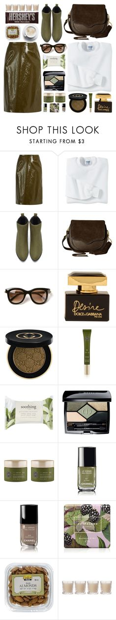 """""""City Slickers: Patent Leather"""" by lenochca ❤ liked on Polyvore featuring Sies Marjan, Gildan, Rebecca Minkoff, Thierry Lasry, Dolce&Gabbana, Gucci, Rituals, Forever 21, Christian Dior and Chanel"""