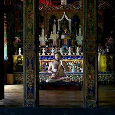 Bhutanese Yogi in Temple