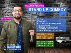 Aprende a hacer Stand Up Comedy y sé parte del crew de Tijuana Stand Up Comedy El taller empieza el 19 de febrero en LOFT Espacio de Creación.