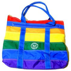Travel Tote Bag Levi Strauss Team USA 1984 Olympics Rainbow Striped Vinyl   #LeviStrauss #USA