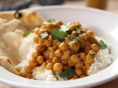Get Chickpea Curry with Rice Recipe from Food Network