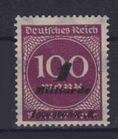 DR Mi Nr. 331 a **. Infla Ziffer Deutsches Reich 1923, postfrisch, MNH in Briefmarken,