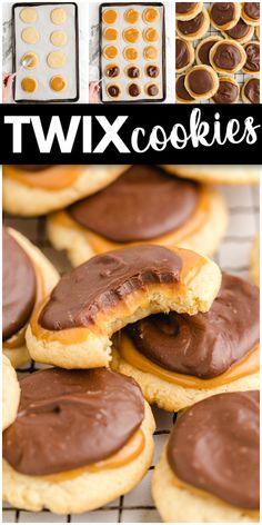 Twix Cookies, No Bake Cookies, Recipe Ingredients, Cookies Ingredients, Baked Bean Recipes, Coconut Bars, Delicious Cookies, Tasty, Yummy Food