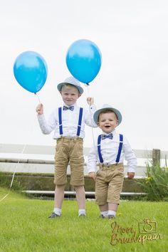Super lieve leuke bruidskindjes. Altijd een goed idee om met helium ballonnen te werken tijdens de fotoshoot op de trouwdag.
