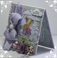Female Birthday card with Wild Rose Studio Image - Emily with Ted Papers - Bluebell Dies - Oval Frame and Bluebell Scrapbook Cards, Scrapbooking, Birthday Cards For Women, Paper Crafts, Diy Crafts, Oval Frame, Card Patterns, Creative Words, Altered Art