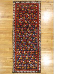 "Zeikhour long rug,Kuba District,Eastern Caucasus,circa 1875, 8'.6""x3'.5"" (259x104 cm)."
