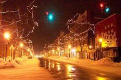 Pretty and snowy Main St in Brockport, NY! Love this place!