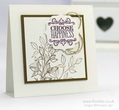Stampin' Up! Demonstrator Pootles - Choose Happiness. Simply Happiness