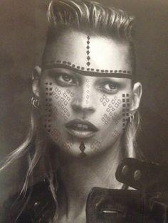 tribal face paint