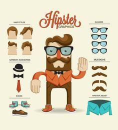 O estilo Hipster em vetores gratuítos Hipster Illustration, Flat Illustration, Character Illustration, Estilo Hipster, Fantasy Character, Character Concept, Character Art, Web Design, Game Design