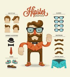 hipster vectors. #thomasbolte @Christina Berryman share this with Thomas!