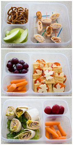 30 Days of Lunch Boxes | Peanut Blossom (Staying Healthy: What is your favorite healthy lunch box combo for your kids?)