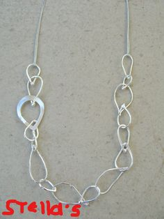 Handmade silverplated  chain. Un...chain my heart collection!