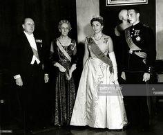 From 1958, Princess Ingeborg of Sweden in her Boucheron tiara, with her grand daughter, Princess Astrid of Norway, wearing the large diamond tiara originally worn by Queen Josephine of Sweden