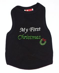 The Dog Squad My First Christmas Tank Christmas T-Shirt for Pets, Small, Black *** Review more details here : Dog shirts