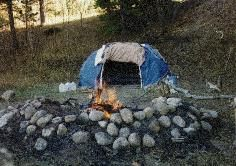 building a native american style sweat lodge~ though I would highly recommend not making one on your own, since there are many, many traditions involved in every aspect of the lodge, ceremonial fire, etc....