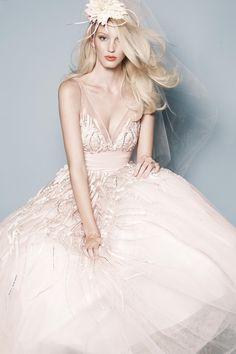 blush wedding dress - Google Search
