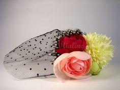 Haarklammer Tüll Blumentraum von Mialine auf DaWanda.com