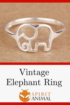 This elegant elephant ring is a perfect peice to add to your daily wear. It is silver and beautiful! May the elephant remind you to stay calm during your day and tap into your intuitive wisdom that you carry inside. Elephant Spirit Animal, Your Spirit Animal, Elephant Ring, Vintage Elephant, Stay Calm, Daily Wear, Heart Ring, Silver Rings, Wisdom