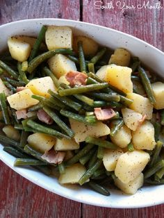 Southern Style Green Beans & Potatoes - South Your Mouth
