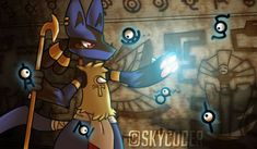 Anubis Lucario by Best Pokemon Ever, Cool Pokemon, Pokemon Stuff, Mega Lucario, Lucario Pokemon, Pokemon Fusion, Anubis, Ship Art, Sonic The Hedgehog