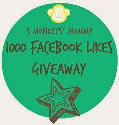 3 Monkeys' Mommy: 1000 Facebook Likes Giveaway!!