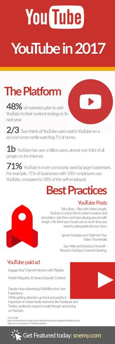 YouTube in 2017 $8% of marketer plan to add YouTube to their content strategy in the next year. # Digital Marketing # Social Media Marketing