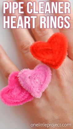 How to Make Pipe Cleaner Heart Rings