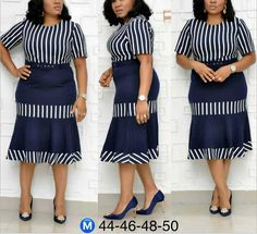 2019 new arrival hot sales women's Striped print stitching fishtail plus size dress Long African Dresses, African Fashion Dresses, Fashion Outfits, Classy Work Outfits, Classy Dress, African Print Fashion, Office Wear, Casual Office, Office Outfits