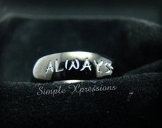Personalized Stackable Name Ring Stacking Rings by SXpressions
