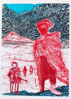 Untitled (2011) lithograph by Daniel Richter.