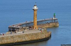 Whitby Lighthouse, North Yorkshire, UK British Isles, British Seaside, Whitby England, Lighthouse Keeper, Beacon Of Light, South Yorkshire, Morning Light, Continents, Beautiful Landscapes