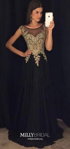 Long Prom Dresses Black, A Line Prom Dresses For Teens, Chiffon Prom Dresses Modest, Lace Prom Dresses Elegant<br> Formal Dresses Long Elegant, Modest Formal Dresses, Glamorous Evening Dresses, Formal Dresses For Teens, Formal Evening Dresses, Formal Prom, Prom Dress Black, Pageant Dresses For Teens, Prom Gowns