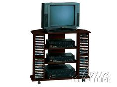 Roger Roger Espresso Tv Stand 07998 Set By Acme