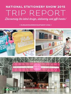 A recap of the 2015 National Stationery Show in New York City. Explore the latest trends in design, stationery, packaging, papers, gifts and more!