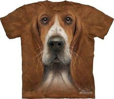 Big Face Basset Hound T-Shirt