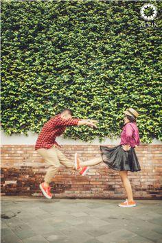 Being funny together #wedding #preweddingideas #prewedding #vintage #love #photography #vintagephotography #yogyakarta