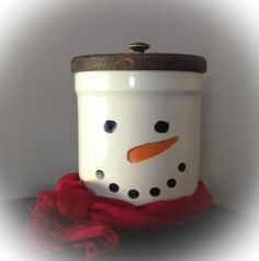 Snowman crock