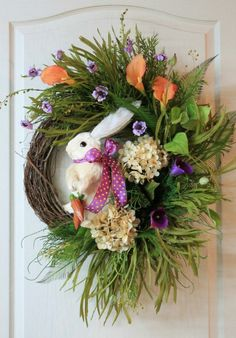 Ostern selber basteln Frühling Türkranz