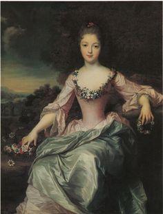 """""""Portrait of Marie Anne de Bourbon Condé"""", 1720, copy by Gustaf Lundberg (Swedish, 1695-1786), after Jean-Baptiste Santerre."""