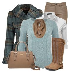 """""""Plaid Pea Coat"""" by daiscat ❤ liked on Polyvore featuring Dollhouse, Current/Elliott, Doublju, Yumi, Kate Spade and Miss Selfridge"""