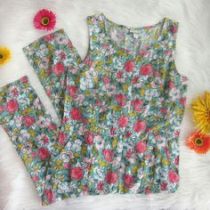 Floral jumpsuit New without tags! I believe this jumpsuit was wrongly sized. It is marked XL but is too small for XL. I believe it's correct size is Medium but I encourage you to use measurements to see that it will work for you. Armpit to armpit measures 17.5 inches. Inseam 30 inches. Waist laid flat 16.5 inches. Has belt loops and front pockets. 100% rayon.  Bundle for best deals! Hundreds of items available for discounted bundles! You can get lots of items for a low price and one shipping…