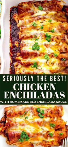 Enchiladas Vegetarianas, Easy Chicken Enchiladas, Enchiladas Healthy, Recipe For Enchiladas, Mexican Enchiladas, Sauce Enchilada, Homemade Enchilada Sauce, Enchilada Lasagna, Recipes With Enchilada Sauce